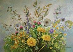 Meadow flower picture 70x50 cm. canvas.