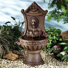 Classic Lion Indoor Outdoor Water Fountain