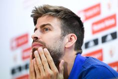 Gerard Pique of FC Barcelona faces the media during a press conference at FC Barcelona Sports Centre on May 26, 2017 in Barcelona, Catalonia.