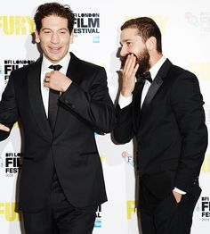 Jon Bernthal and Shia LaBeouf graced another carpet for Fury, this time in London.
