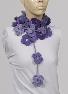 PURPLE GIFT For Her On Sale Crochet SCarf by crochetgiftstore, $17.00