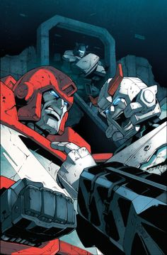 All Hail Megatron 4 cover by ~dcjosh on deviantART - Ironhide, Prowl, and Jazz - Transformers Autobot