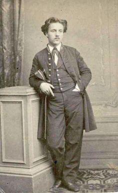 Gabriel Fauré (1845-1924), photograph (1864), by Carl Reutlinger (1816-1890).