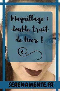 Découvrez mon maquillage rouge et noir avec un double trait de liner à l'occasion du Monday Shadow Challenge ! #liner #doubleliner