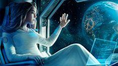 Epic Space Music Mix Most Beautiful & Emotional Music SG Cyberpunk Girl, Cyberpunk 2077, Arte Sci Fi, Sci Fi Art, Photomontage, Cosmos Image, Science Fiction, Space Music, Spaceship Interior