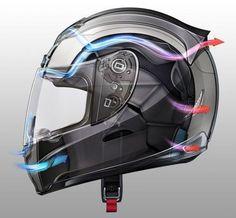 airflow helmet concept design sketch render