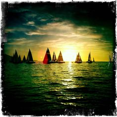 Yachts at sunset - Cape Town