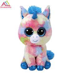 sermoido TY 6    Beanie Boos Pegasus Jednorog Beanie Bebe Plišane Punjene  lutke Toy Collectible Meko Big Eyes DBP182 de9ab09dc4ec