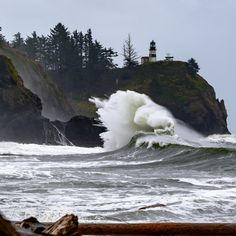 Photos: Strong winds make for stormy seas along Washington's shores | KOMO 11/16/20 Water Aesthetic, Stormy Sea, Strong Wind, Local Events, Lighthouse, Washington, Waves, Weather, Drown