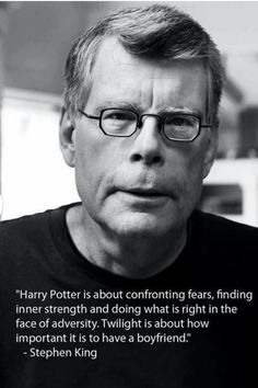 harri potter, harry potter stephen king, stephen king harry potter, twilight series, book series
