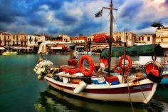 _rethimnon, crete island, greece
