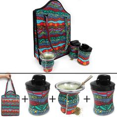 Argentina Yerba Mate Gourd Kit Cup Straw Bombilla Bag Herb Container Drink 6178 for sale online