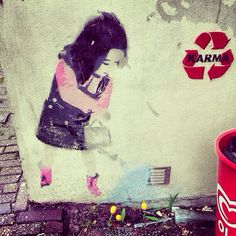 Street art. Graffiti. This is Art, not Mine nor yours, but It deserves to be seen...by everyone...Share it...