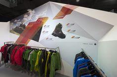 Adidas Outdoor trade show booth by Martin Oberhäuser, via Behance