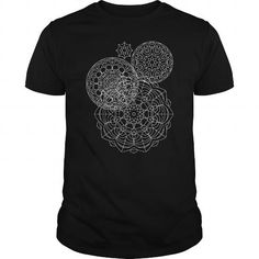 Mandalas T Shirts, Hoodies, Sweatshirts. CHECK PRICE ==► https://www.sunfrog.com/Faith/Mandalas-Black-Guys.html?41382