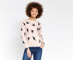 Oasis, Shadow bird knit Multi Pink