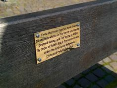 Councils on the hunt for pranksters who created hilarious park bench plaques!