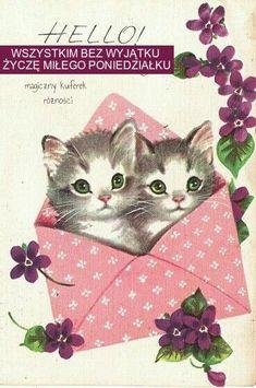 Three Sleepy Kitties~White Cats Snuggled~18x24 Original Painting Print~by Darie