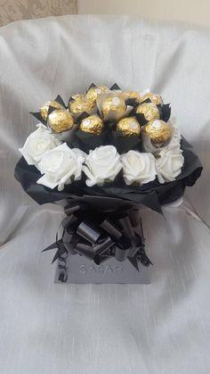 Bouquet Box, Candy Bouquet, Flower Bouquets, Ferrero Rocher Bouquet, Ferrero Rocher Chocolates, Greeting Card Holder, Chocolate Flowers Bouquet, Candy Arrangements, Luxury Chocolate