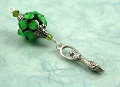 Blessingway bead - Emerald Flower Goddess