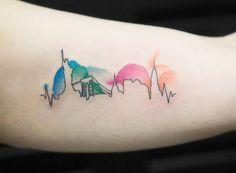 New York City Silhouette Tattoo