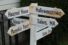 Diary of a Crafty Lady: Halloween Directional Wooden Post Sign Halloween Signs, Halloween Town, Holidays Halloween, Halloween Crafts, Holiday Crafts, Holiday Fun, Halloween Decorations, Halloween Ideas, Halloween Stuff