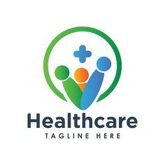 logo design template for medical, hospital, business. Logo Design Template, Logo Templates, Clinic Logo, Medical Logo, Health Care, Apple, Logos, Business, Free