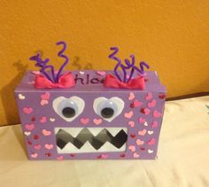 My Daughter Loves Monsters So, It Was Only Appropriate To Make This Love  Monster Valentines · Valentine BoxShoebox ...