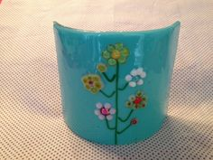 Fused Glass Flower Stand by SparksPainInTheGlass on Etsy, $24.00