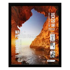 """Perfect for decorating your home or dorm, this poster frame fits a 16"""" x 20"""" photo, poster, or art print.  The 1"""" frame in black finish gives the poster frame a sophisticated look that will add style to any room.  The hinged sawtooth hangers make it easy to display horizontally or vertically and the plexi-glass cover will keep your poster protected."""