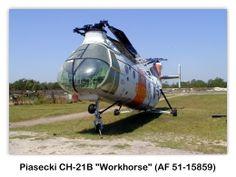 Piasecki CH-21B Workhorse (AF 51-15859) en el USS Alabama (BB-60) Battleship Park, Mobile, Alabama