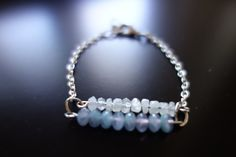 Rainbow Moonstone and Faceted Lavender by BeadingforChange on Etsy, $20.00