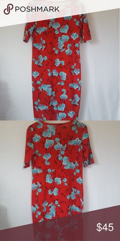 050250064d2 LuLaRoe Julia Dress sz Large I have for sale a gorgeous floral print Julia  dress in a size Large.