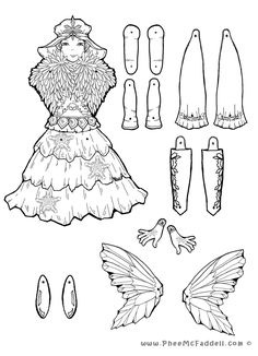 Ice Fairy Puppet to Color, Cut Out, & Assemble