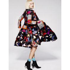 Multicolour Mixed Pattern Mink Coat by Elle B. Zhou @ellebzhou  #ElleBZhou…