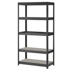 Edsal 72-in H X 36-in W X 18-in D 5-tier Steel Freestanding Shelving Unit…
