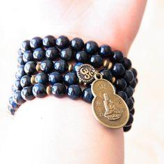 Mala Beads Prayer Beads Wrist Mala Bracelet / by MishkaSamuel