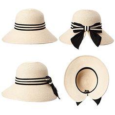 425b655e4c3 Siggi Floppy Summer Sun Beach Straw Hats for Women Accessories Wide Brim  UPF 50 Packable 56