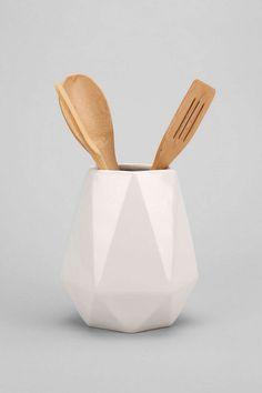 faceted utensil holder