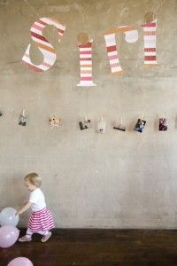 great idea for decorations for baby's first birthday