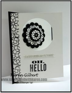 Delicate Doilies in Black and White www.simplysaidwithkaren.com