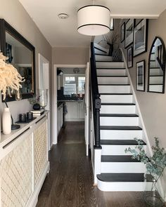 """Lucy Tallyn Wiltsher on Instagram: """"When we crossed the threshold just over 4 years ago, I had no idea how much we could transform a space. It was a real blank canvas, the…"""" Hallway Designs, Hallway Ideas, Hillside House, Painted Stairs, Diy Home Improvement, Diy On A Budget, Interior Inspiration, Painted Furniture, Interior Decorating"""