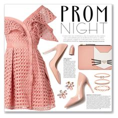 """""""The Perfect Prom Night"""" by myduza-and-koteczka ❤ liked on Polyvore featuring self-portrait, M. Gemi, Karl Lagerfeld, Anja, Marchesa and Accessorize"""