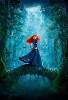 Day 5, Favorite Hero? Merida.  I definitely believe she was a hero.  She made some pretty big mistakes, but she also saved her mother and her brothers from being permanently turned into bears, and it would take a wicked courageous girl to sword fight your own father to protect what he sees as his greatest enemy.  I also just loved how different she was, and of course you gotta love that hair <3