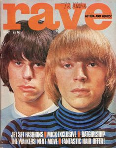 Rave Action and Words magazine, May 1966 — The Yardbirds' Keith Relf & Jeff Beck