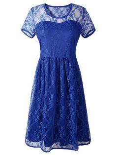 Lace dresses vintage women vestido sexy lace short sleeve backless knee length party dress #lace #dresses #green #lace #dresses #ladies #lace #dresses #patterns #lace #dresses #size #18