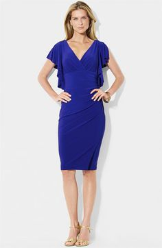 Lauren by Ralph Lauren Jersey Sheath Dress.. Wonder if I could pull this off??