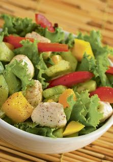 Chicken salad with mango