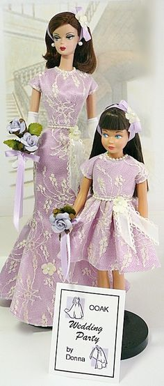 Barbie Bridal, Barbie Wedding Dress, Barbie Dress, Vintage Barbie Clothes, Doll Clothes, Mother Daughter Fashion, Wedding Bride, Wedding Bells, Bride Dolls