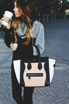 celine bags and prices - La la la looooove this Black Celine mini luggage tote, I'm so over ...